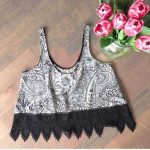 Free People Summer Lace Crop Tank